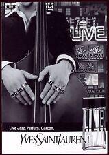 carte postale publicitaire . publicité . parfum Yves Saint Laurent .Live Jazz