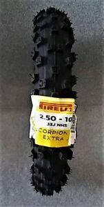 PIRELLI SCORPION 2.5x10 FRONT MINI MX EXTRA-J OFF-ROAD DIRT TIRE KAWASAKI KDX 50