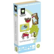 """CRICUT """"JUST BECAUSE"""" CARDS SHAPES CARTRIDGE *WORD STICKER STENCIL ENVELOPE* NEW"""