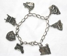 Vintage Sterling Silver Michigan Heritage Charm Bracelet 7 charms 24.4 grams