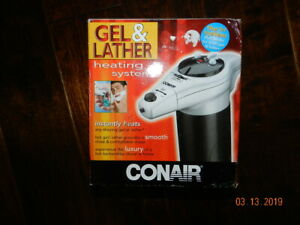 Conair HGL1 Combo Hot Gel / Lather Machine Shaving System for Face & Legs *READ*