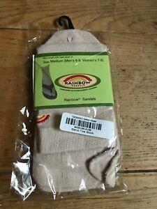 Rainbow Sandals Brand Unisex Beige Toe Socks Mens 6-9 Womens 7-9