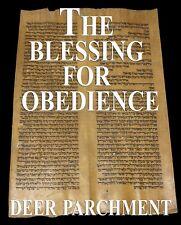 TORAH SCROLL BIBLE VELLUM MANUSCRIPT FRAGMENT 350 YRS MOROCCO Deut 27:15-28:42