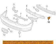 HONDA OEM 08-12 Accord Front Bumper-Filler Cover Retainer Clip 71109TA1J01