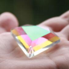 48mm CRYSTAL DIAMOND Prism suncatcher Hanging Chandelier AB Coated Rainbow DIY
