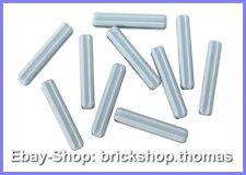 Lego Technic 10 x 3er Kreuzstangen grau - 4519 - Axle Light Bluish Gray -NEU/NEW