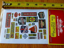 JL Innovative Design HO #373 Oil & Tire Signs for Gas Stations 1940s-50s (67Sign