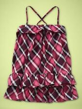 NWT 2T 2 YRS. ADORABLE BABY GAP CROSS-BACK PLAID DRESS PINK RED GIRL GIFT! $40