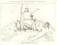 Flaxman's Illiad Drawing -1833- JUPITER & AGAMEMNON