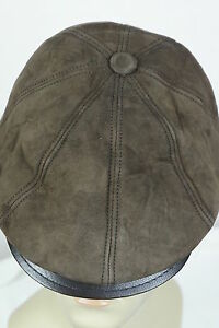 NEW 100% SUEDE LEATHER Gatsby Cap Mens Newsboy Ivy Hat Golf Driving Flat Cabbie