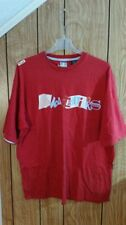 AKADEMIKS TEE XXXL RED GRAPHIC DESIGN SHORT SLEEVE sewn on letters