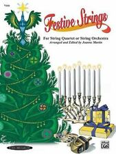 Festive Strings for String Quartet or String Orchestra : Viola by Joanne Martin