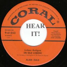 Alan Dale POP 45 (Coral 61553) Lisbon Antigua/I'm Gonna Sleep with One Eye Open
