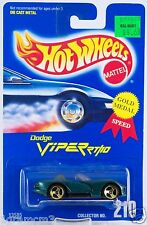 Hot Wheels No. 210 Dodge Viper RT/10 13585 1995 Green With Gold 3SP's NEW