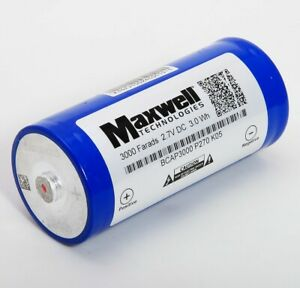USED Maxwell Technologies Ultra Capacitor 3000 Farads 2.7V DC BCAP3000 P270 K05