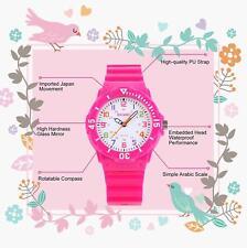 Pink girls' analogue wrist-watch Sports/Casual Waterproof Kid/Child time teacher