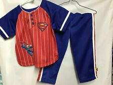 Warner Brothers Superman Baseball Jersey Outfit - Size 4T