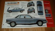 ★★1974 AUDI NSU RO80 SPEC SHEET BROCHURE PHOTO POSTER PRINT INFO 67-77 74 75★★