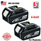 2X NEW 18V 6.0Ah LITHIUM ION BATTERY LXT FOR MAKITA BL1860 BL1830 US LATEST PACK