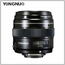 Yongnuo YN100MM F2N Auto Manual Focus Telephoto Prime Lens for Nikon camrea
