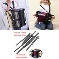 Accordion Leather Shoulder Straps Waterproof Adjustable Fit for 80/96/120  ♪
