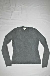 ADRIENNE VITTADINI  100% 2-PLY CASHMERE LONG SLEEVE CREW NECK SWEATER XS/S
