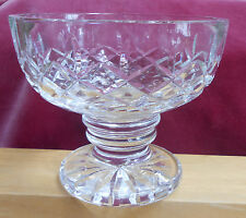 "WATERFORD COMPOTE S CANDY DISH PEDESTAL CRISS CROSS 4 1/4"" X 5"" SIGNED GIFTWARE"
