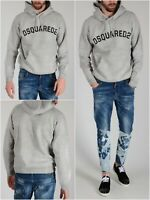 DSQUARED2 MEN'S GREY SWEATSHIRT HOODIE OVERSIZE FIT SIZE М FW 2017 S74GU0172