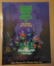 1991 TEENAGE MUTANT NINJA TURTLES Movie TMNT Original Print Ad Advertising