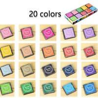 20 Farben Set Stempel-Kissen Kinder Stempelfarbe Bunt Fingerabdruck Stempel B1N8