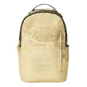 Brand New SPRAYGROUND Gold Brick Deluxe Bag