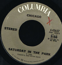 """45T 7"""": Chicago: saturday in the park. columbia. A4"""