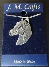 Pewter Horse Pendant and Chain