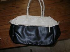 ISAAC MIZRAHI Large Tote Shoulder/Shopping Bag BlackRock Black/Winter White