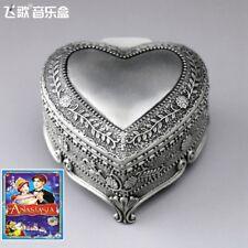SANKYO TIN ALLOY HEART SHAPE MUSIC BOX  ♫ Anastasia Theme Soundtrack ♫