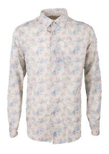 PAUL & SHARK Men's Shirt Size 44 Linen Blend