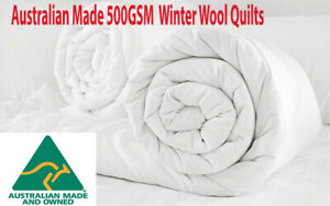 Australian Made FACTORY SECOND 500GSM Winter Warmth Wool Doona|Quilt