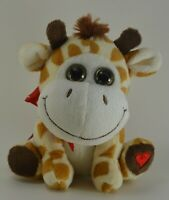 """Kellytoy 6"""" Stuffed Baby Giraffe with Bow Mint condition"""