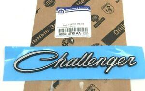 09-19 Dodge Challenger front fender chrome black script Nameplate Emblem OEM