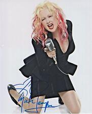 Cyndi Lauper signed 8X10 Photo with COA