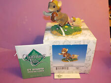 "Charming Tails Ltd Ed ""Touchdown"" Figurine 87/806 w/ Trading Cards Fitz & Floyd"