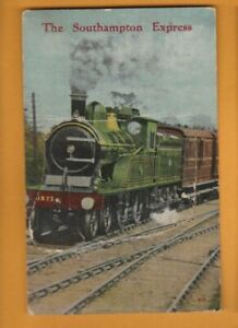 Hampshire- The Southampton Express- Steam Train.   Novelty Pull out  Postcard