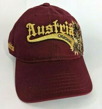 Austria Original Cap Hat Maroon 3D Embroidery Embroidered Baseball Style