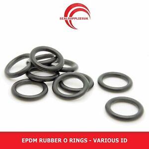 Metric EPDM O Rings Rubber- Various ID - 2MM C/S - UK Supplier Various O Rings