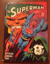 Vintage Retro 1980's The Superman 1983 Annual Hardback In Fair To Good Condition