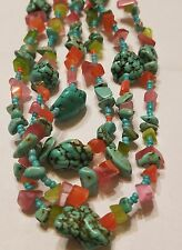 VINTAGE NAVAJO Turquoise Shell  Southwest  JEWELRY Wholesale LOT OF 7 NECKLACES