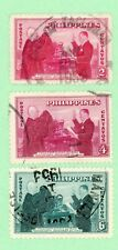Philippines 3 stamps , SC 547 - 549, 4th Anniv of Philippines, 1950, used
