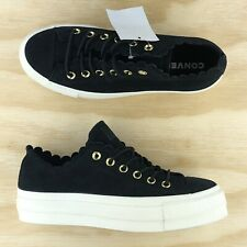 Converse Chuck Taylor All Star Platform Lift Ox Black White Shoes 563499C Size
