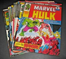 Mighty World of Marvel - issues 149-167. joblot. 19 issues. Hulk, FF, Daredevil.