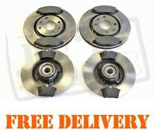 Peugeot 308 Front & Rear Brake Discs & Pads Kit 1.4 1.6 2.0 HDi + Wheel Bearings